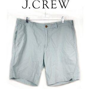 J. Crew Factory Sunwashed Oxford Blue Shorts 36W